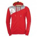 Kempa Core 2.0 Hooded Jacket Kids red/gray