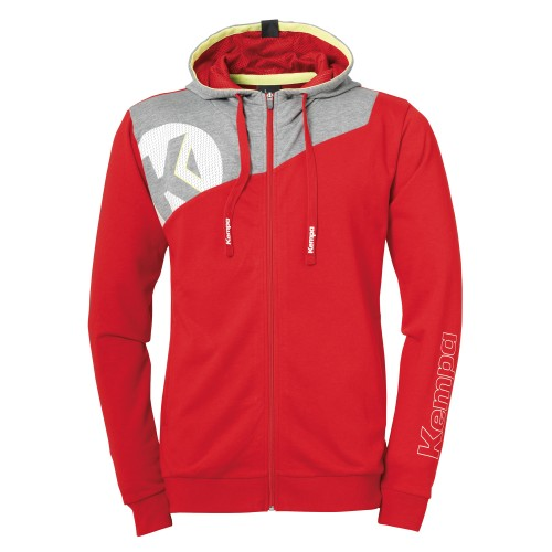 Kempa Core 2.0 Hooded Jacket Kids red/gray