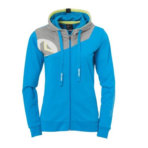 Kempa Core 2.0 Hooded Jacket Women light blue/gray