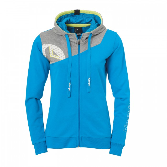 Kempa Core 2.0 Hooded Jacket Women light blue/gray