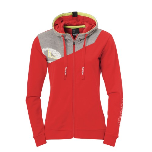 Kempa Core 2.0 Hooded Jacket Women red/gray
