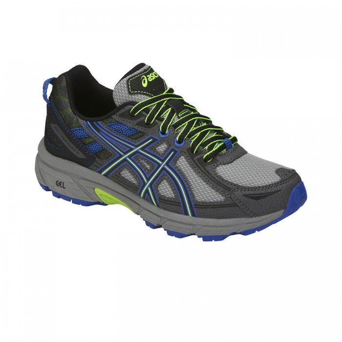 Asics runningshoes Gel-Venture 6 (GS) Kids grey blue neon yellow ... bf32d1a2a6