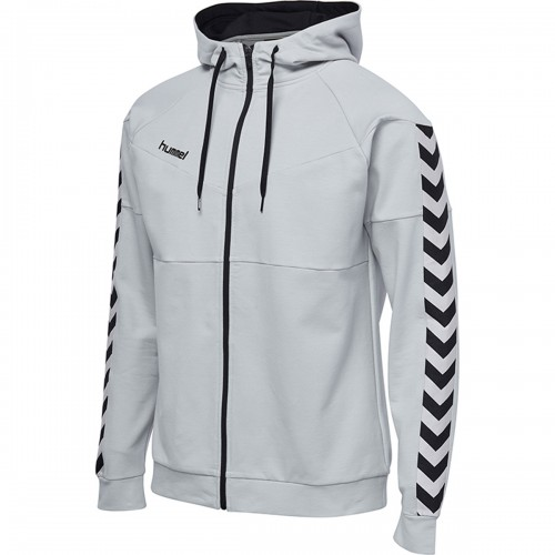 Hummel Court Cotton Zip Hoodie light gray/black