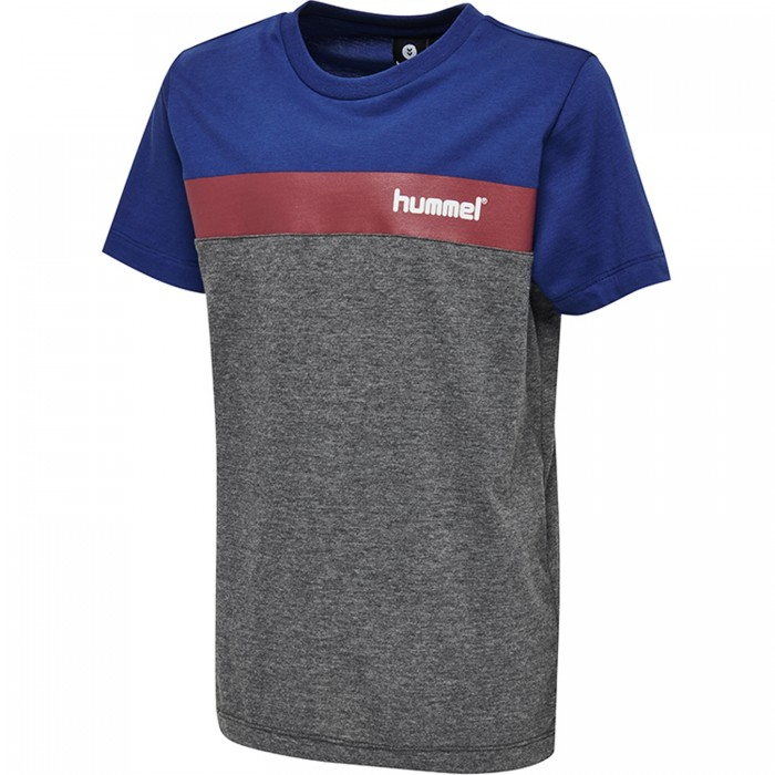 Hummel Rode T-Shirt Kinder grau/royal