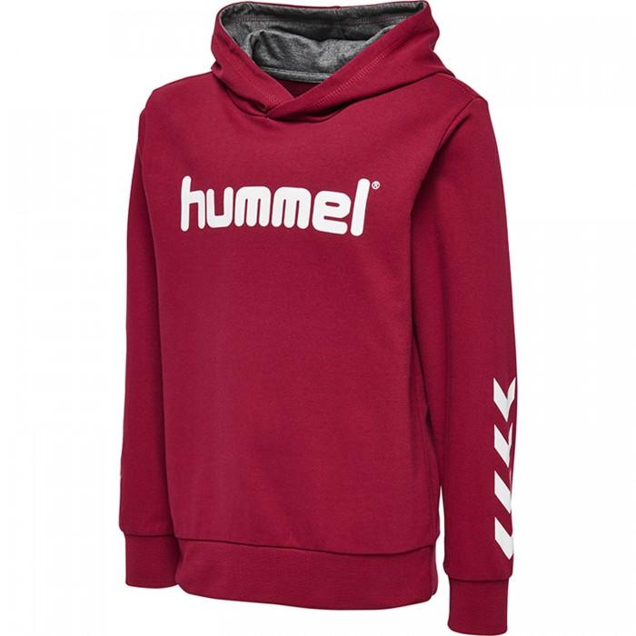 Hummel Kess Kapuzen-Hoodie Kinder rot/weiß