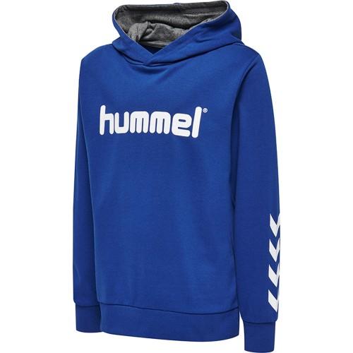 Hummel Kess Kapuzen-Hoodie Kinder blau/weiß