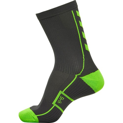 Hummel Court Socks low anthracite/neongreen