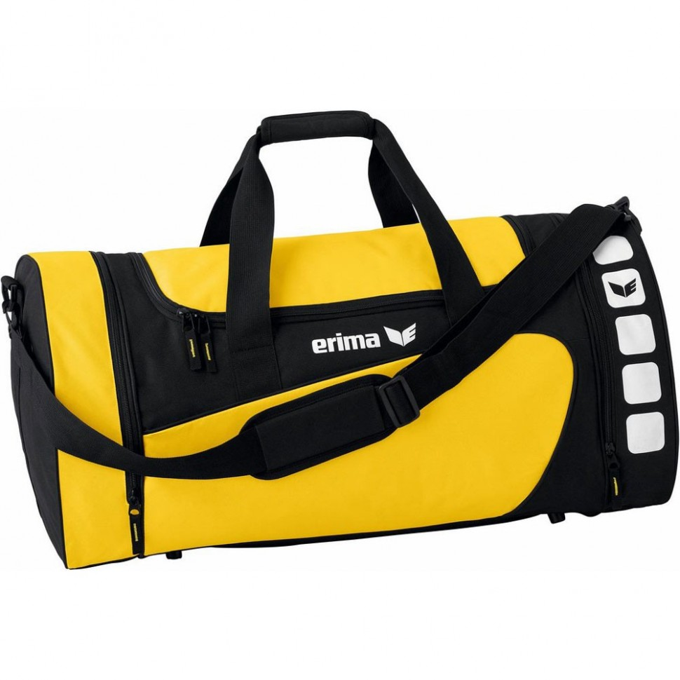 Erima Sports bag Club 5 Line yellow/black small