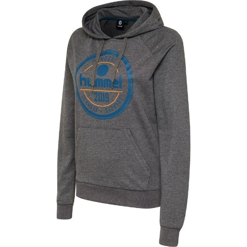 Hummel Classic Bee Leisurely Hoodie Women gray melange