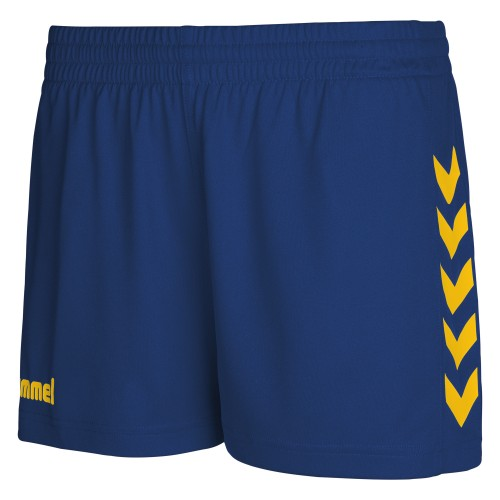 Hummel Woman Core Poly Shorts dark blue/yellow