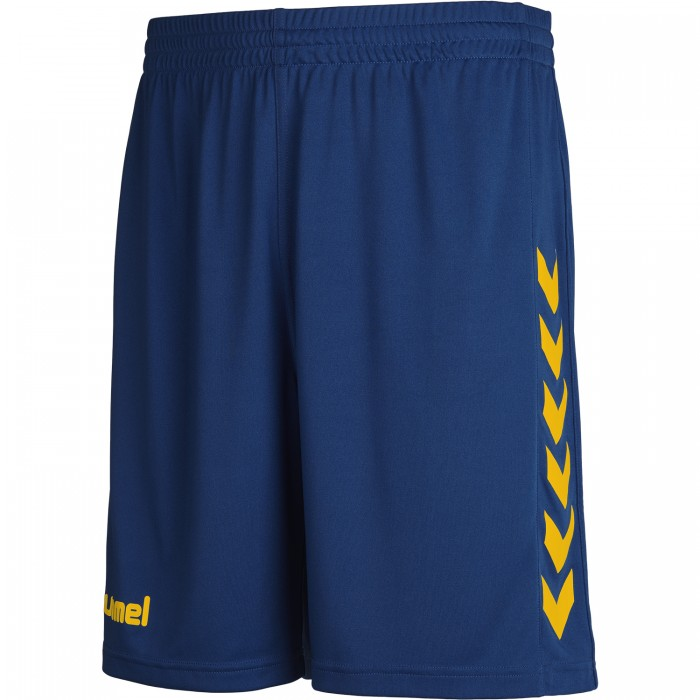Hummel Core Poly Shorts for Kids dark blue/yellow
