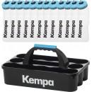 12 Kempa Trinkflasche + Trinkflaschenhalter Set