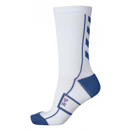 Hummel Tech Indoor Sock low weiß/dunkelblau