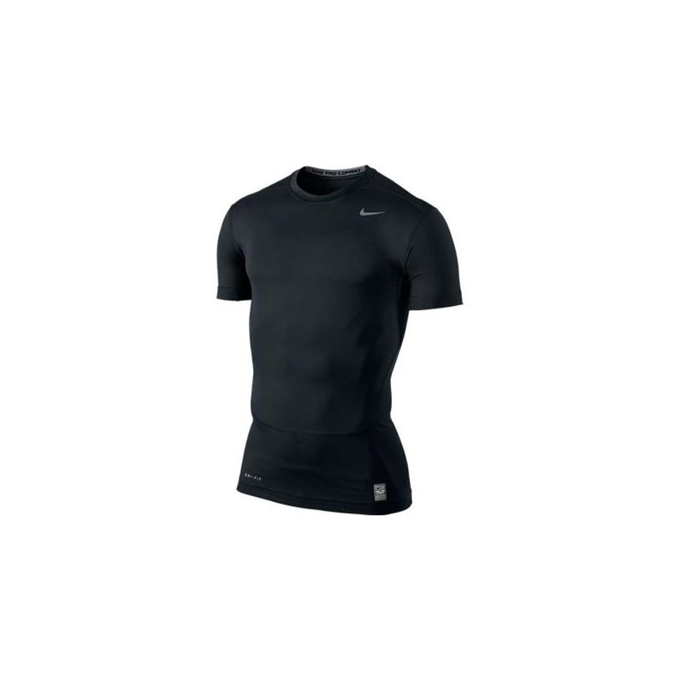 Nike CORE TIGHT CREW kurzarm schwarz