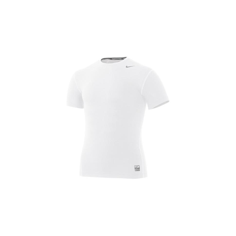 Nike CORE TIGHT CREW kurzarm weiß