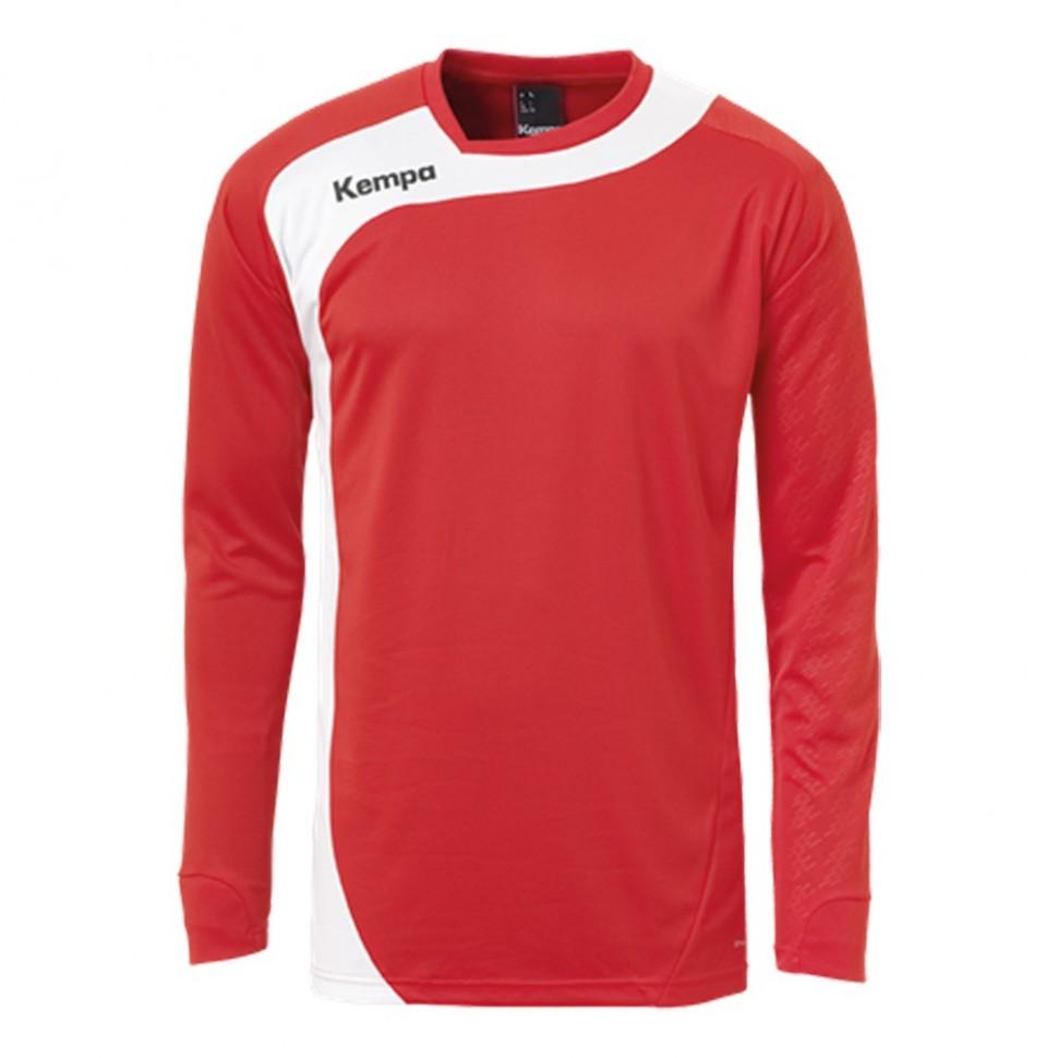 Kempa Peak Langarmshirt rot/weiß