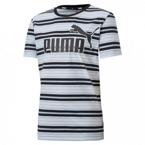 Puma Ess Stripe Logo Tee B