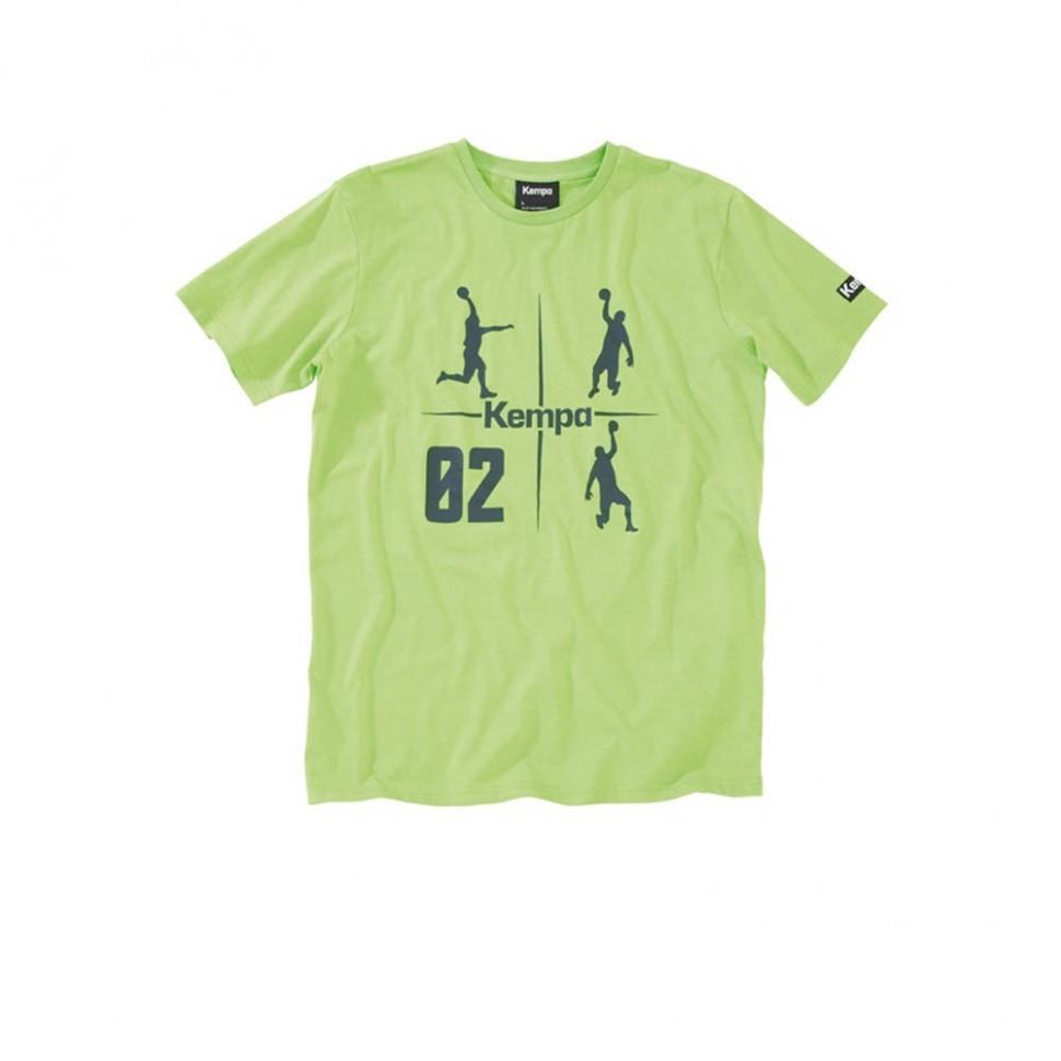 Kempa Cross-T-Shirt gün/anthrazit Kinder und Erwachsenen