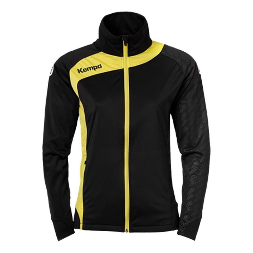 Kempa Peak Multi Jacket Women black/limonenyellow