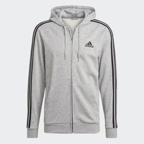 Adidas Essentials French Terry 3-Stripes Hoodie Jacket