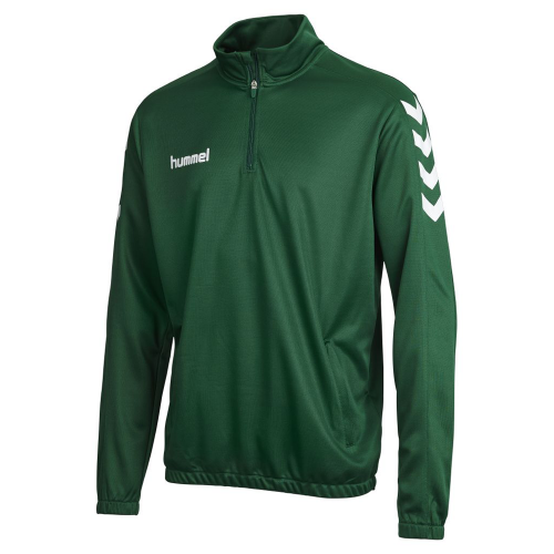 Hummel Core 1/2 Zip Sweat for Kids dunkelgreen