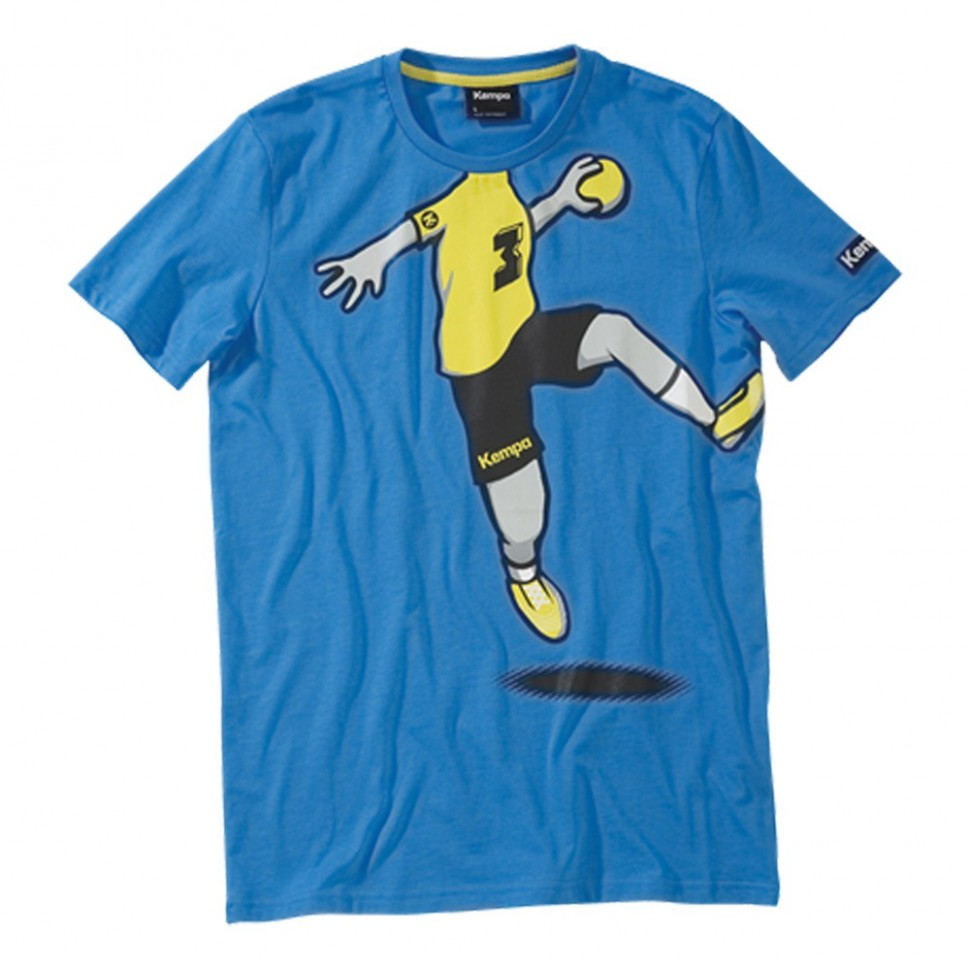 Kempa Cartoon Player T-Shirt kempablue