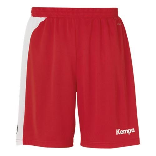Kempa Peak Short für Kinder rot/weiß