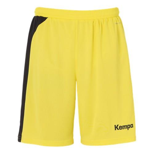 Kempa Peak Short für Kinder limonengelb/schwarz