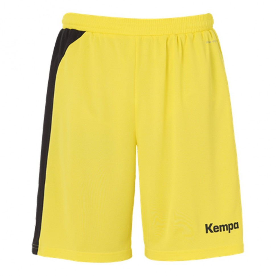 Kempa Peak Short for Kids limonenyellow/black