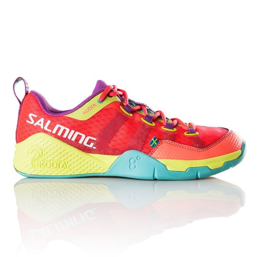 Salming Handballshoes Kobra Woman korall/yellow/türkis