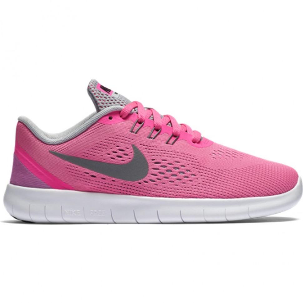 Nike Free RN (GS) Kinder rosa/weiß