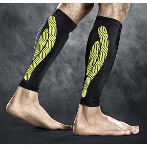 Select Compression-Wadenbandage black/yellow
