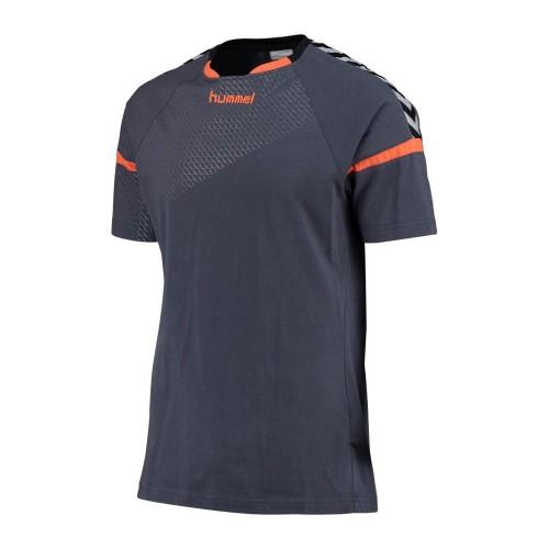 Hummel Authentic Charge Trainings-T-Shirt Kinder graublau