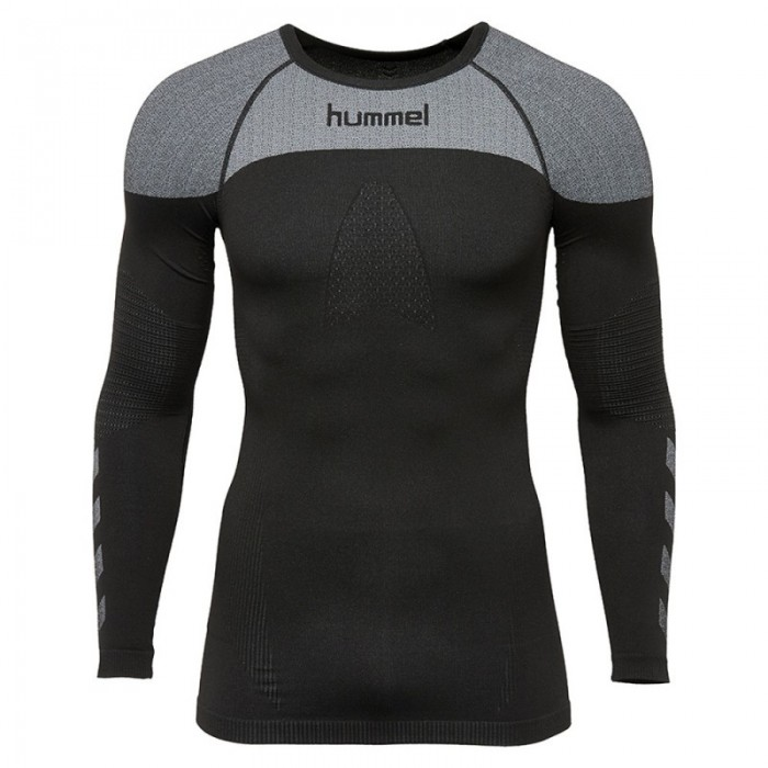 Hummel First Comfort ls Jersey schwarz/grau