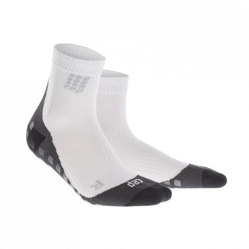 CEP Griptech Kompressions-Socken weiß/grau