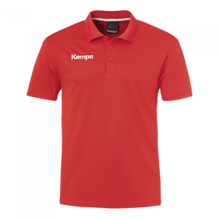 Kempa Kinder Poly Polo Shirt rot