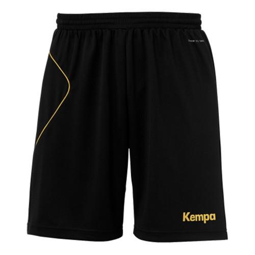 Kempa Kinder-Shorts Curve schwarz/gold