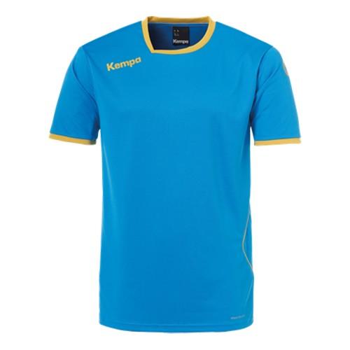Kempa Kinder-Handballtrikot Curve kempablau/gold
