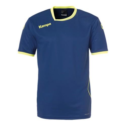 Kempa Kinder-Handballtrikot Curve marine/neongelb