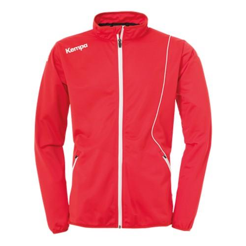 Kempa Curve Kinder-Trainingsjacke Classic rot/weiß