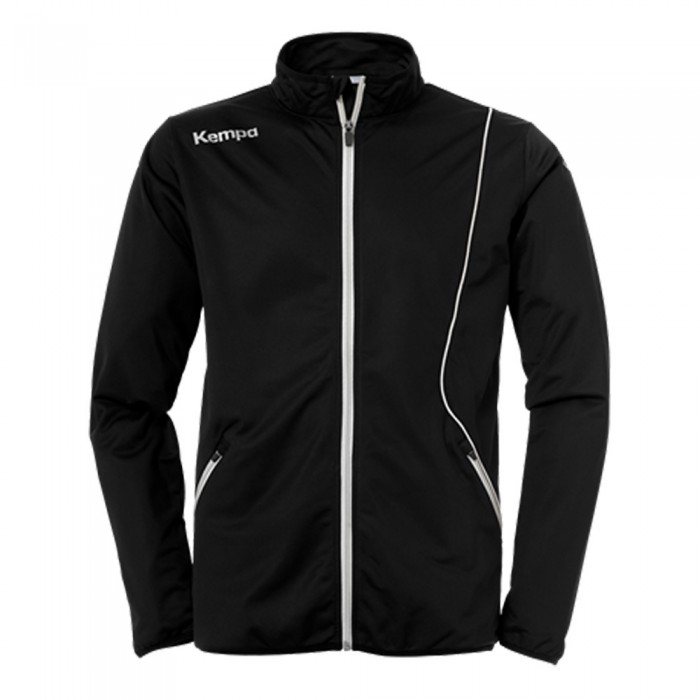 Kempa Curve Kinder-Trainingsjacke Classic schwarz/weiß