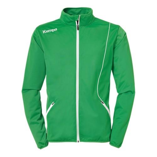 Kempa Curve Kinder-Trainingsjacke Classic grün/weiß
