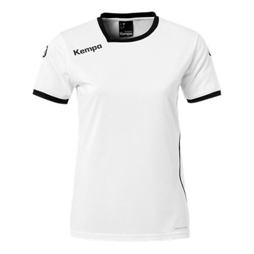 Kempa Curve Damen-Handballtrikot weiß/schwarz