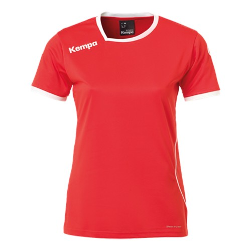 Kempa Curve Damen-Handballtrikot rot/weiß
