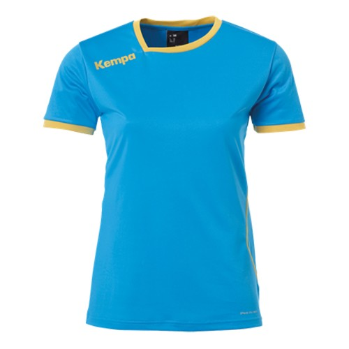 Kempa Curve Damen-Handballtrikot kempablau/gold