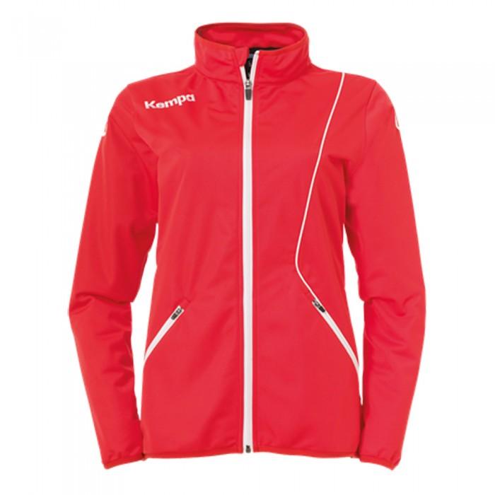 Kempa Curve Damen-Trainingsjacke Classic rot/weiß