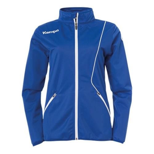 Kempa Curve Damen-Trainingsjacke Classic royalblau/weiß