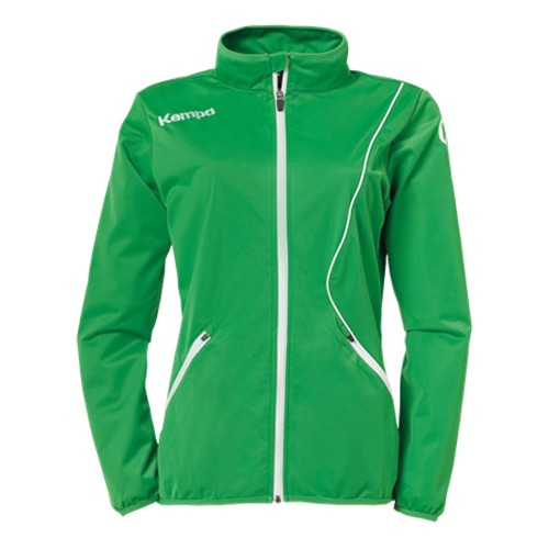 Kempa Curve Damen-Trainingsjacke Classic grün/weiß