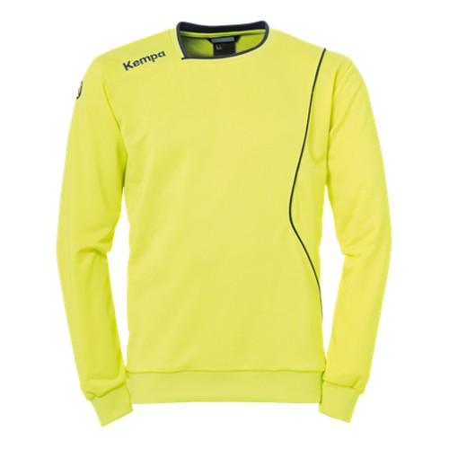 Kempa Curve Trainingssweatshirt neongelb/marine