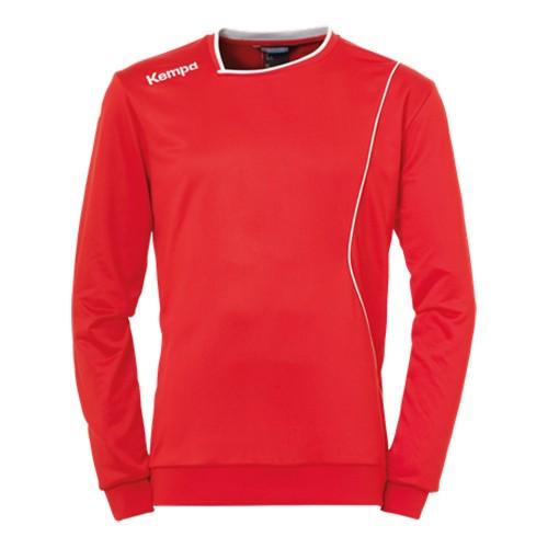 Kempa Curve Kinder-Trainingssweatshirt rot/weiß